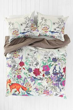 Plum & Bow Forest Critter Duvet Cover. Yeah, I need this...
