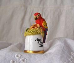 Parrot Thimble San Diego Zoo by cynthiasattic on Etsy, $25.00