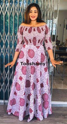 Ankara Long Gown Styles, Latest African Fashion Dresses, African Dresses For Women, African Attire, Ankara Styles, African Print Dress Designs, African Print Clothing, African Print Fashion, African American Fashion