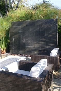 Outdoor Water Wall  Fountain and Garden Pond