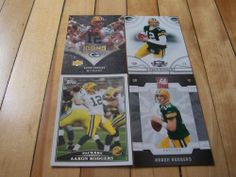 Aaron Rodgers 4 Card Lot Green Bay Packers Donruss Elite Threads Topps UD Icons   eBay