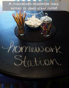 Cute homework station idea