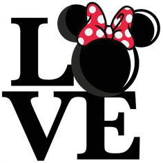 Love Mouse Girl Title SVG scrapbook cut file cute clipart files for silhouette cricut pazzles free svgs free svg cuts cute cut files Más Art Disney, Disney Crafts, Disney Hall, Disney Mickey, Cute Clipart, Cute Cuts, Silhouette Projects, Silhouette Cameo, Minnie Mouse Silhouette