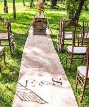 Jute 'vintage look' loper voor de bruiloft. Doen!