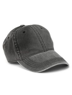 Gap Mens Washed Baseball Hat Washed Black