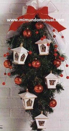decoracion navideña con faroles - Buscar con Google
