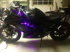 My Kawasaki Ninja 300!! Purple LEDs -stefanilp