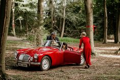 Red Vintage Wedding Car for Woodland Wedding | By Elena Popa Photography | Wedding Car | Red Wedding Car | Vintage Car for Wedding | Coloured Wedding Car | Red Bridesmaid Dress Wedding Car, Wedding Favours, Red Wedding, Rock My Family, Rock My Style, Moon Gate, Red Bridesmaid Dresses, Camera Shy, Garden In The Woods