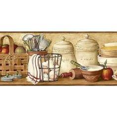 primitive wallpaper borders for kitchen - www.