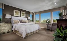 The master suite features a spacious master bedroom with a spa-like bath with soaking tub and expansive walk-in closet. - Residence Three at Bellmore at Parkgate in Elk Grove, CA