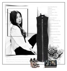 """""""love the night"""" by silver-sun ❤ liked on Polyvore featuring Givenchy and Christian Louboutin"""