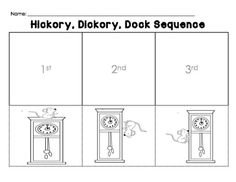 Hickory, Dickory, Dock sequence sheet