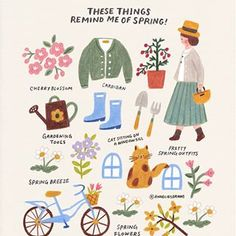 Tante S!fr@ loves this pin These things remind me of spring :) How about you? I hope you get a good feeling like the sunshine in spring when you see this ❤ . 여러분은 봄! Fanarts Anime, Poster S, Jolie Photo, Cute Illustration, Graphic, Cute Drawings, Cute Art, Art Inspo, Just In Case