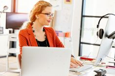 Young woman in office by nexusplexus. Price $5