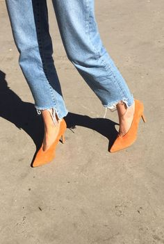 Orange you glad these babies exist? Pair with boyfriend jeans or a midi dress for spring wear.