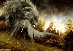 Looks like London, and her inner wolf. Hound by akreon on deviantART, Fantasy Creatures Anime Wolf, Magical Creatures, Fantasy Creatures, Fantasy Kunst, Fantasy Art, Vampires, Beast, Fantasy Wolf, Wolf Love