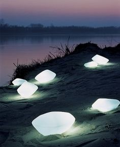 Stones outdoor lamp - modern - outdoor lighting - Interior Deluxe