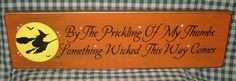 """""""Something Wicked This Way Comes...""""    How COOL!!!  From HermitagePrimitives on Etsy."""