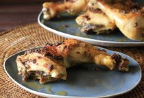 Garlic Roasted Chicken Legs - Delicious and super easy. You probably have all the ingredients on hand. 5 stars.