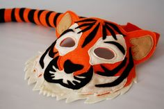 Turner the Tiger Mask and Tail set for Pretend Play on Etsy $20-$30