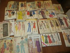 Vintage Lot of 24 1960s Patterns Simplicity Buttericks