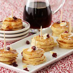 Mini Maple Pancakes -  Makes approximately 2 dozen mini stacks