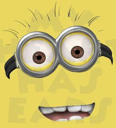 Printable DIY Minion face Despicable Me Universal Studios Iron on transfer framed art