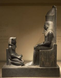 Egyptian Art, Horemheb, Last Pharaoh of 18th Dynasty, New Kingdom, Ruled from 1323 to 1295 BC, Horemheb offerer kneeling before the god Atum, Luxor Museum, Egypt. (Photo by Prisma/UIG/Getty Images)