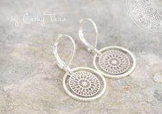 Ohrringe - Mandala Ohrhänger - ein Designerstück von Cathy-Thica-Namaste bei DaWanda