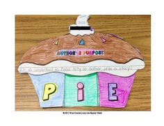Author's Purpose is easy as P.I.E.! Persuade, Inform, Entertain! This adorable cutie pie is perfect for enhancing your author's purpose lessons. Included in this packet are *P.I.E. Foldable Book *Blank P.I.E. for your own use or modifications*Directions and Suggestions page *Colorful examples *Anchor Chart Idea Use to glue in your Reading Notebook, hang up in the room, create a colorful bulletin board, insert in homework binders, use it anywhere!