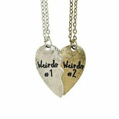 Gifts ideas bff friendship necklaces Ideas for 2019 Bff Necklaces, Best Friend Necklaces, Friendship Necklaces, Best Friend Jewelry, Vintage Necklaces, Vintage Jewellery, Bestfriend Necklaces For 2, Silver Jewellery, Sister Jewelry