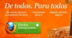 Firefox: Navegador web libre y gratuito.