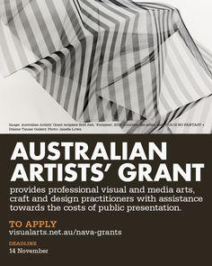 Australian Artists' Grant flyer