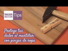 Tips Hogar | Protege tus dedos al martillar con pinzas de ropa | @iMujerHogar - YouTube