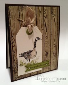 Wetlands stampin up stamp set.  With short video of how to get the extra small circle at the top of the tag.  :))