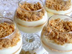 SPLENDID LOW-CARBING BY JENNIFER ELOFF: NO BAKE LEMON CHEESECAKE MOUSSE - Wow!  I think the texture and flavor of this dessert combined with soft, buttery graham-cracker like crumbs on top is awesome!  Visit us for more awesome recipes at: https://www.facebook.com/LowCarbingAmongFriends