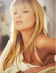 Kate Moss for that beautiful face and oh so perfect hair.