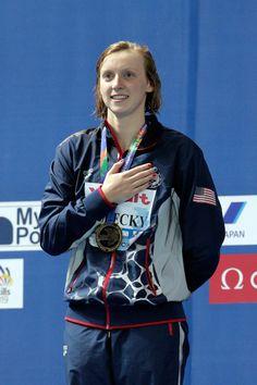 Katie Ledecky Photos - Swimming - 16th FINA World Championships: Day Twelve - Zimbio