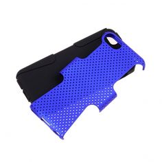 Apple iPhone 5C Hybrid Skin Solid Black Skin with Blue Cover - myaccessoryguy