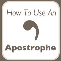 The Apostrophe. The apostrophe probably causes more grief than all of the other punctuation marks put together! The problem nearly always seems to stem from not understanding that the apostrophe ha… Grammar Posters, Grammar And Punctuation, Grammar Rules, Grammar Lessons, Grammar Tips, Teaching Writing, Teaching English, School, English Grammar