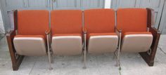 1950's vintage theater/church seating — Fixed price $475