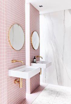 Pink | Bathroom #interiorarchitecture