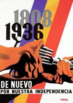 Spanish Civil War poster by Josep Renau Berenguer. Love Posters, Poster On, Vintage Posters, Poster Ideas, Spanish War, Propaganda Art, Political Posters, Image Macro, Civil War Photos
