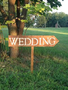 Customized Wedding Sign  Rustic Style Wedding  by CountryBarnBabe; Again, if your wedding is somewhere out of the way, signs are a good idea to make sure guests know where to go.  Make sure they are weatherproof: wood works best and they can also be customized to your liking