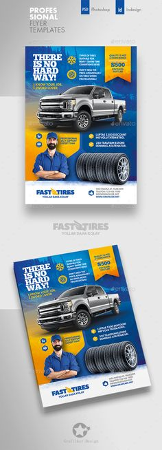 Buy Auto Tires Flyer Templates by grafilker on GraphicRiver. Auto Tires Flyer Templates Fully layered INDD Fully layered PSD 300 Dpi, CMYK IDML format open Indesign or later . Creative Flyer Design, Creative Flyers, Ads Creative, Creative Posters, Graphic Design Brochure, Flyer Design Inspiration, Flyer Layout, Business Flyer Templates, Corporate Flyer