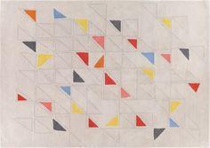 habitat Peto Multi-coloured Triangle Patterned Wool Rug RRP £350