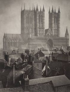 centuries past:    Lincoln Cathedral: From the Castle  Frederick H. Evans (British, 1853–1943)  1898. Platinum print  MoMA