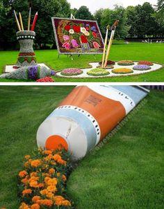 Garden art supplies for the budding artist.