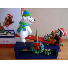 Hallmark UP FOR FUN Teeter Totter Seesaw Christmas Ornament, it moves! Listing in the Ornaments,Decorations,Christmas,Occasions & Seasonal Category on eBid United States | 138288080