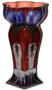 Orvit Art Nouveau Glass Vase -- A beautiful orivit art nouveau vase of superior quality and superb color.